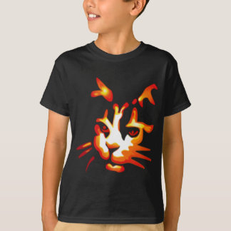 Glödande Halloween kattansikte T-shirt