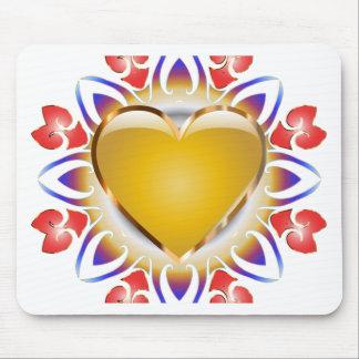 Glödande hjärtaprodukter musmatta