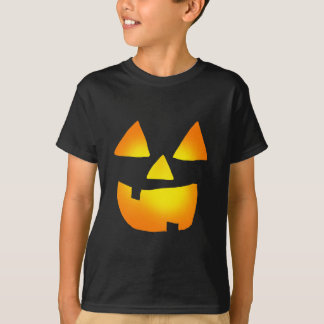 Glödande Jackolantern ansikteskjorta Tee Shirt