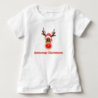 Glödande julstrumpababyskjorta t shirt