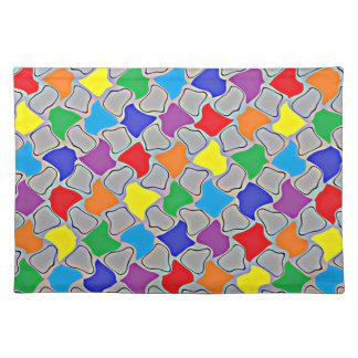 Glödande klickar av en regnbågebordstablett bordstablett