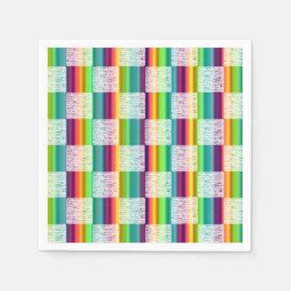 Glödande lilla) pappra servetter för regnbågepläd