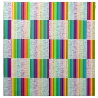 Glödande servetter för trasa för regnbågepläd (sto