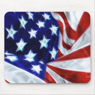Glödande stjärnor Mousepad för amerikanska flaggan Musmatta