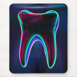 Glödande tand Mousepad för tandläkareblått Musmatta