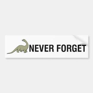 Glöm aldrig bildekal