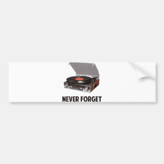 Glöm aldrig vinylskivspelare bildekal