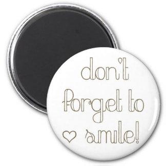 Glöm inte att le magneten magnet