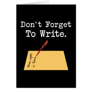 Glöm inte att skriva hälsningskort