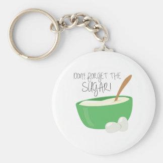 Glöm inte sockret! nyckelring