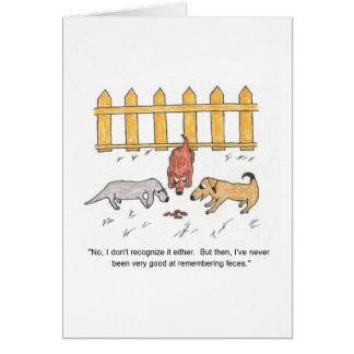 Glömskt kort för hundtecknadfödelsedag