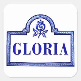 Gloria den Granada gatan undertecknar Fyrkantigt Klistermärke