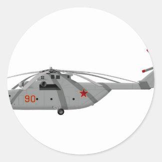 Gloria för Mil Mi-26 Runt Klistermärke