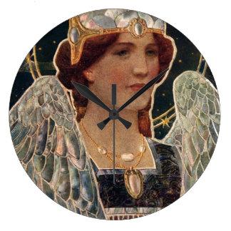 Glorian för ängelnattpärla påskyndar religiös vint stor klocka