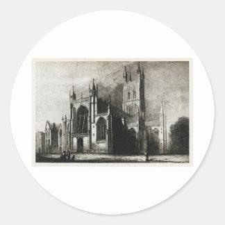 Gloucester domkyrka runt klistermärke
