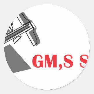 GM bultar logotypen Runt Klistermärke