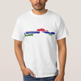 GM för Gambia flaggakarta T-shirts