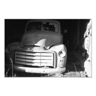 GMC-vintagelastbil - fototryck