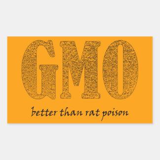 GMO - bättreänråttgift Rektangulärt Klistermärke