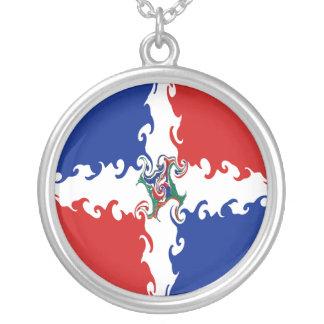 Gnarly flagga för Dominikanska republiken Skräddarsydda Halsband