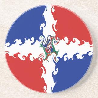 Gnarly flagga för Dominikanska republiken Glasunderlägg