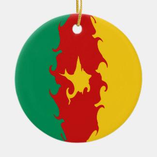 Gnarly flagga för Kamerun Jul Dekorationer