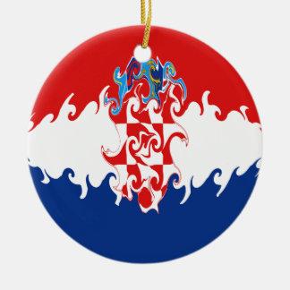 Gnarly flagga för Kroatien Juldekoration