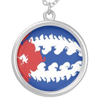 Gnarly flagga för Kuba Halsband Med Rund Hängsmycke