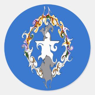 Gnarly flagga för nordliga Marianas Runda Klistermärken