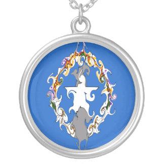 Gnarly flagga för nordliga Marianas Halsband Med Rund Hängsmycke
