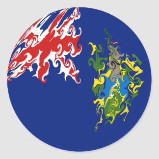 Gnarly flagga för Pitcairn öar Runt Klistermärke