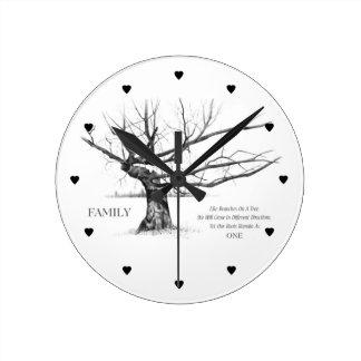 Gnarly gammalt träd: Citationstecken: FAMILJ: Rita Rund Klocka