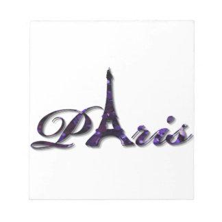 Gnistra för glitter för Paris Eiffel tornSequin Anteckningsblock