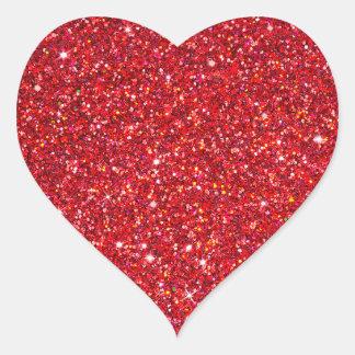 Gnistra- och glitterklistermärke hjärtformat klistermärke