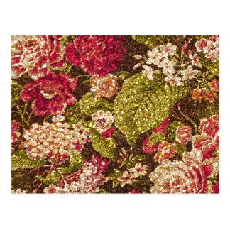 Gnistran verkställer blom- Brocade Vykort