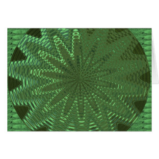 GNISTRAsmaragdgrönt: BlommaChakra visning Deco Kort