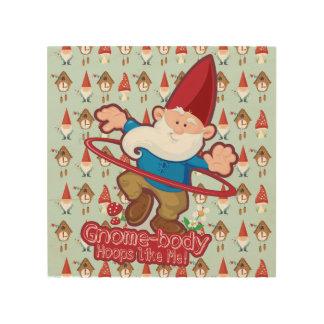 Gnome-förkroppsliga: Wood väggkonst Trätavla