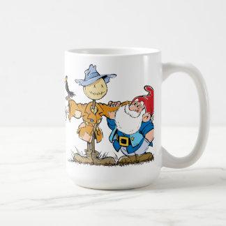 Gnome och fågelskrämma kaffemugg