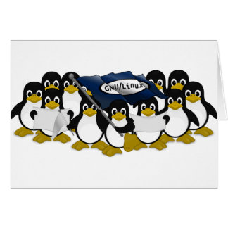 GNU/Linux! Hälsningskort