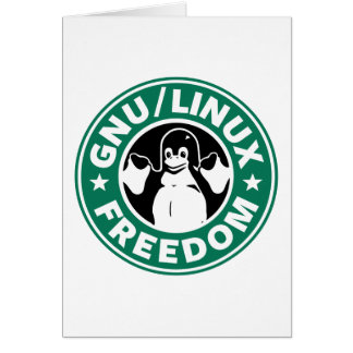 GnuLinuxfrihet Hälsningskort