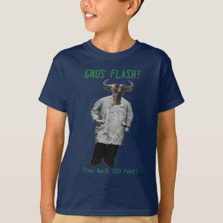 GNUS FLASH-_-Steer som är klar av de vänstra T-shirts