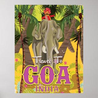 Goa Indien vintage resoraffisch Poster