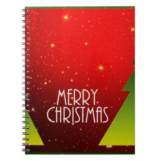 God jul anteckningsbok med spiral