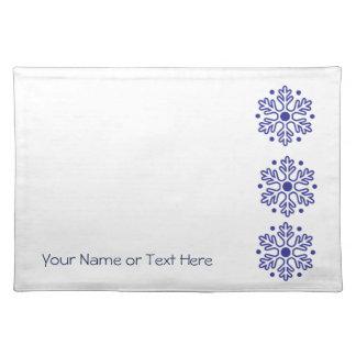 God jul - blåttSnowflakebordstablett Bordstablett