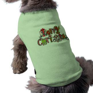 God jul daltar skjortan husdjurströja
