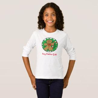 God jul dig pepparkaka-/candy caneutslagsplats tee shirts