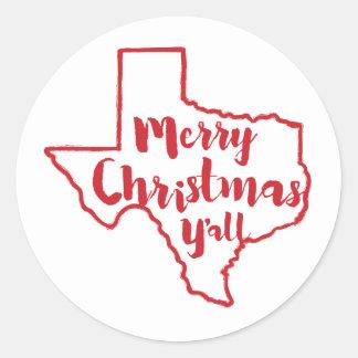 God jul dig Texas statliga klistermärkear Runt Klistermärke