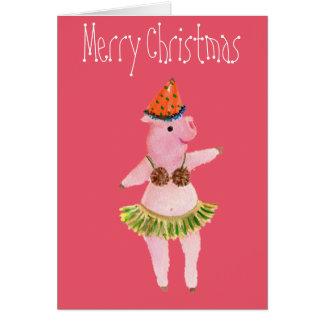 God jul firandegris, kokosnötbehåkort hälsningskort