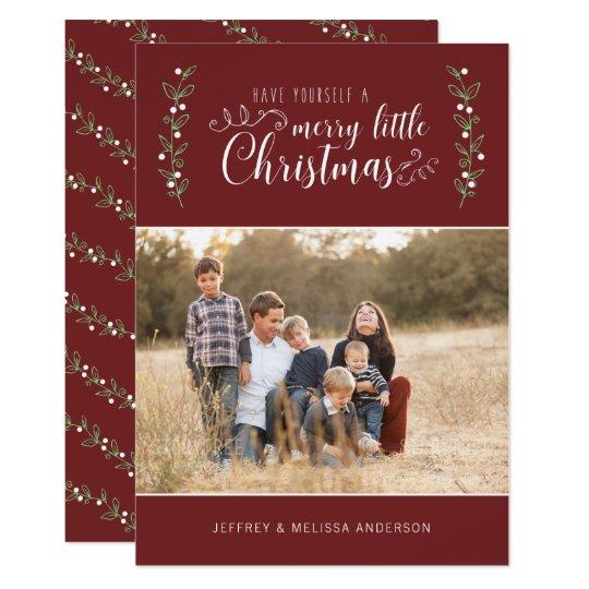 God jul för bär | för REDIGERBAR färg glad 12,7 X 17,8 Cm Inbjudningskort
