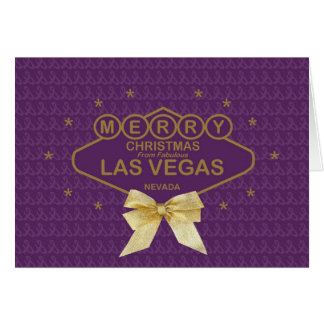 """God jul """"för guld- band"""" från den Las Vegas bilen Kort"""